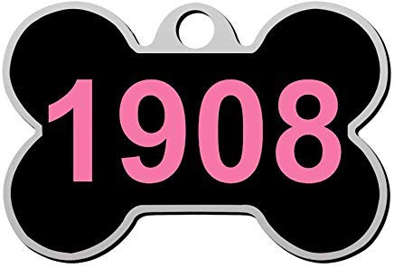 Custom Personalized Pet ID Tag Double Sided for Dog and Cat with Print 1908 ()