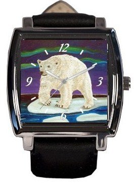 Polar Bear Watch - From My Painting - Support Wildlife Protection, Read How
