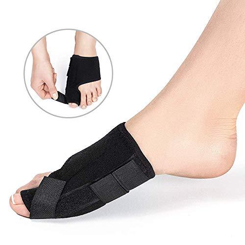 Bunion Corrector Bunion Relief Kit (Bunion Splints, Gel Toe Protect Separator Sleeves&Toe Separators) for Hallux Valgus -Day/Night Support for Men&Women (Black, M)