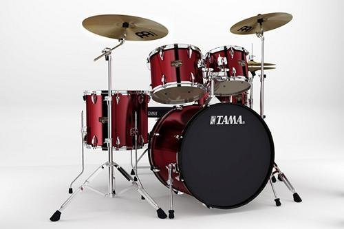 Tama Imperialstar 5-Piece Drum Kit with 22' Bass Drum and Cymbals - Vintage...