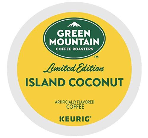 Green Mountain Coffee Island Coconut K-cups Coffee 72 (Green Mountain Coconut)
