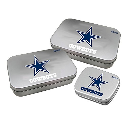 Dallas Cowboys Mint - Worthy Promotional NFL Dallas Cowboys Decorative Mint Tin 3-Pack with Sugar-Free Mini Peppermint Candies