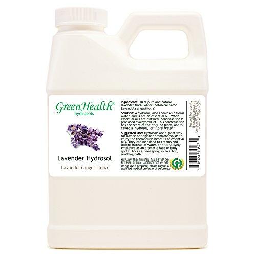 Lavender Hydrosol - 16 fl oz Plastic Jug w/ Cap - 100% pure,