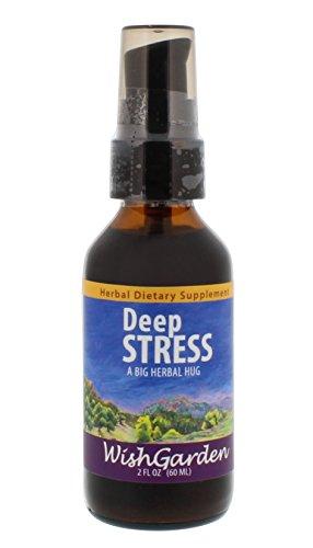 WishGarden Herbs - Deep Stress, Organic Herbal Stress Relief, Combination of Ten Soothing Herbs Support Normalized Mood & Energy (2 oz - Wishgarden Herbs
