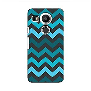 Cover It Up - Jagged Blue Nexus 5XHard Case