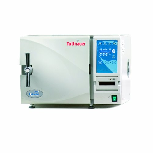 Heidolph Tuttnauer 2540E Autoclave Sterilizer Electronic Model with 4 Stainless Steel Trays, 23L Capacity, 10