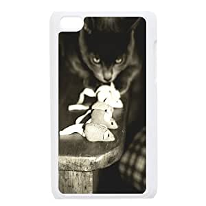 Cute and Lovely Cat Design Top Quality DIY Hard Case Cover for iPod Touch 4, Cute and Lovely Cat iPod Touch 4 Phone Case Kimberly Kurzendoerfer