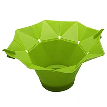Silicone Microwave Magic Popcorn Maker,gloednApple Creative DIY Popcorn Container Healthy Cooking (Green)