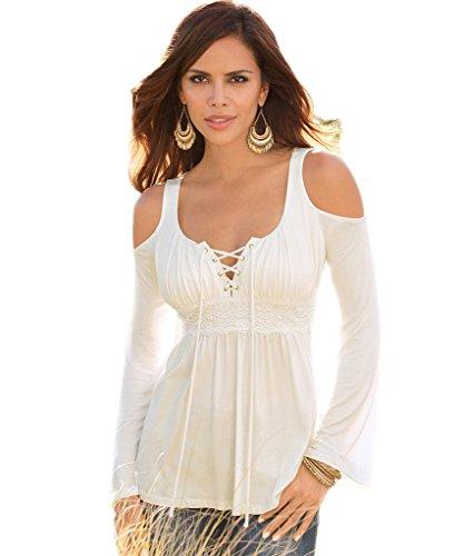 Angashion Womens Shoulder Bandage T shirt product image