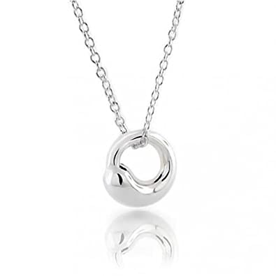 Amazon eternal circle pendant sterling silver necklace 16 eternal circle pendant sterling silver necklace 16 inches mozeypictures Choice Image