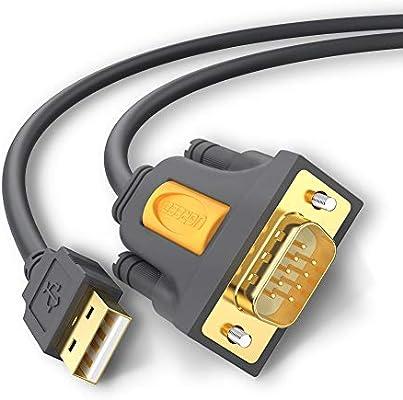 UGREEN 20210 Cable Adaptador Serie USB a RS232 DB9, USB a Puerto ...