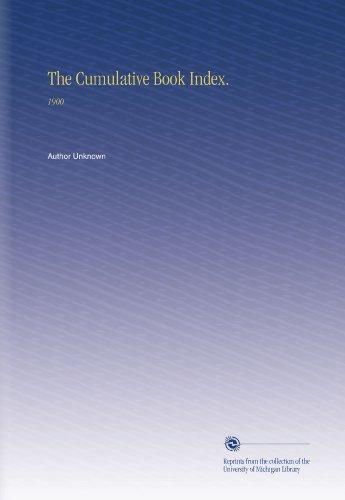 The Cumulative Book Index.: 1900