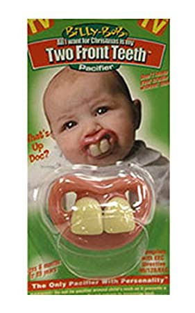 Two Front Teeth (Red Lips) Baby Pacifier (Discontinued by ...