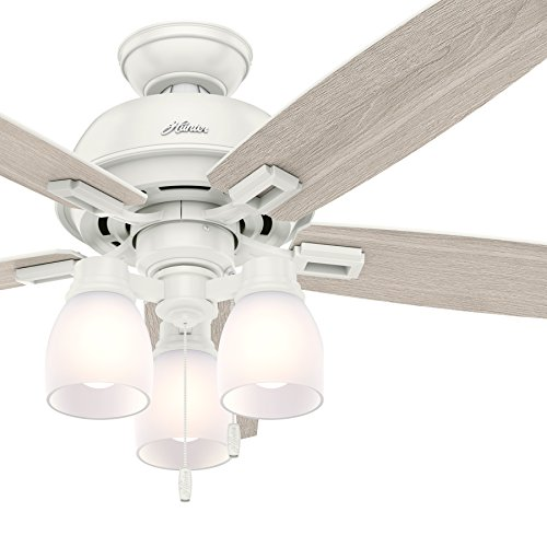 Hunter Fan 52 inch Fresh White Ceiling Fan with LED Light (Certified Refurbished) Review