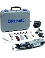 Dremel 8220 Cordless Rotary Tool 12V, Rotary Multi Tool Kit with 2 Attachments 45 Accessories, Front LED Light, Variable Speed 5000-35000rpm for Cutting, Sanding, Drilling, Carving, Cleaning, Routing