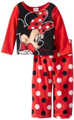 Minnie Mouse Girls 2-6X 2 Piece Fleece Pajama Set