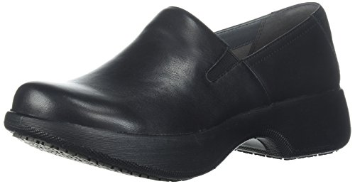 Dansko Women's Winona Loafer Flat, Black Milled Nappa, 38 M EU (7.5-8 US) (Uniform Resistant Athletic Slip)