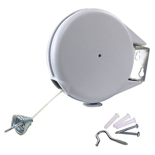 Clothesline Retractable Outdoor - 40ft Single Portable Cloth