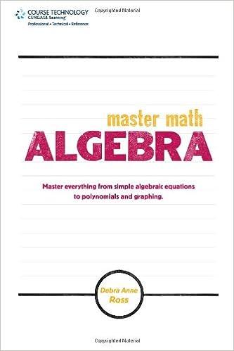 Master Math: Algebra: Debra Anne Ross: 0082039539805: Amazon.com ...