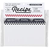 Weatherbee Preprinted Recipe Card Tab Dividers Set, 3 by 5-Inches, Set of 24