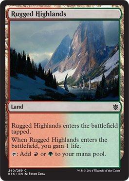 Magic: the Gathering - Rugged Highlands (240/269) -