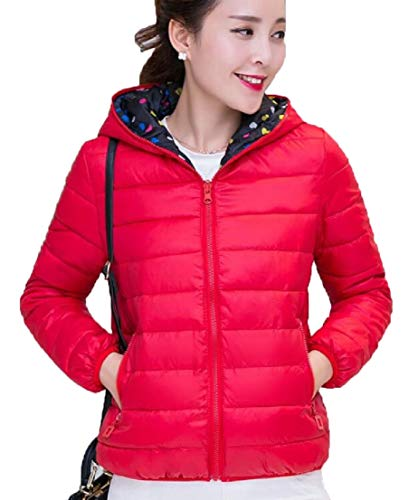 Red Sleeve Long Coat Jacket Womens Hoodie Down TTYLLMAO Lightweight 7PS1wq8wx