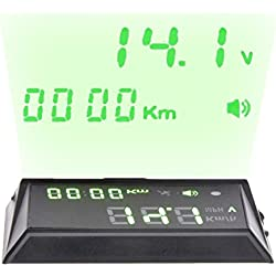 NikoMaku Heads Up Display For Car HUD, HBX-70 GPS Speedometer, Overspeed Alarm, Display Km/h MPH, Automatic Brightness, Windshield Project for All Vehicles