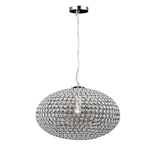 Eliptic 1-Light Crystal 20 Inch Wide Chandelier Ceiling Light Fixture