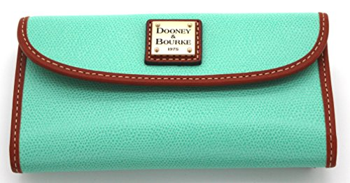 Dooney & Bourke Classic Wallet Genuine Leather (Sea Foam) - Dooney & Bourke Lined Wallet