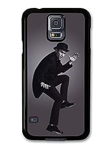 AMAF ? Accessories Joseph Gordon-Levitt Hat Jumping Black & White case for Samsung Galaxy S5