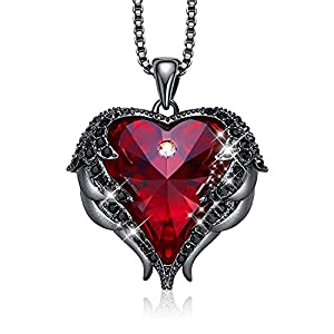 Best Epic Trends 41YjIfujuvL._SS300_ CDE Angel Wing Love Heart Necklaces for Women Silver Tone/Gold Tone Pendant Mother's Day Jewelry Gifts for Women Mom…