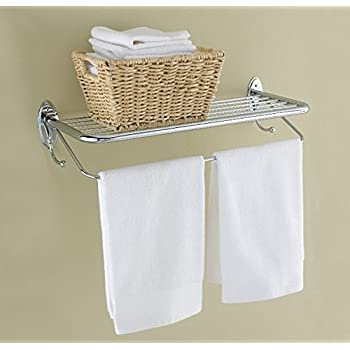 Amazon Com Hotel Style Towel Rack With Towel Bar And