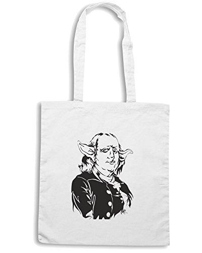T-Shirtshock - Bolsa para la compra FUN0138 06 05 2012 Ben Yoda T SHIRT det Blanco