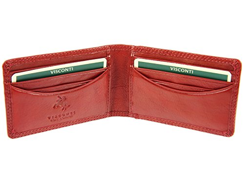 Wallet For Leather ID Red amp; Cards or Photo Credit Card Oyster HT5 Travel Visconti Black BE5xSqdE