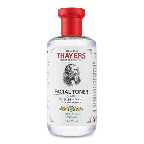 THAYERS Alcohol-Free Cucumber Witch Hazel Facial Toner with Aloe Vera Formula, 12 oz