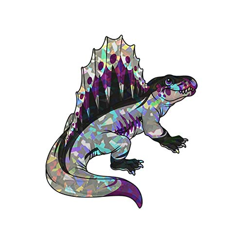 Demi-trodon Demisxual Dinosaur Pride Decal - Indoor and Outdoor use! (4 inch Holographic) ()