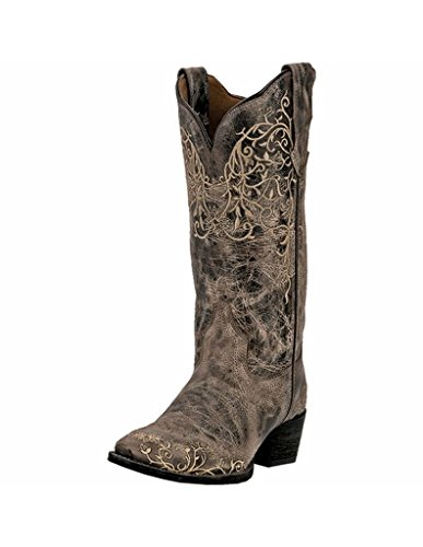 Laredo Womens Taupe Jasmine Leather Cowboy Boots 12in Vine 9 M by Laredo
