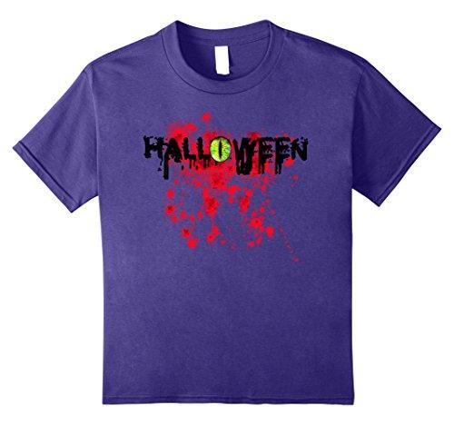 Snake Eyes Costume Amazon (Kids Snake Eye And Blood Spatter Gross Halloween Costume Tee 12 Purple)