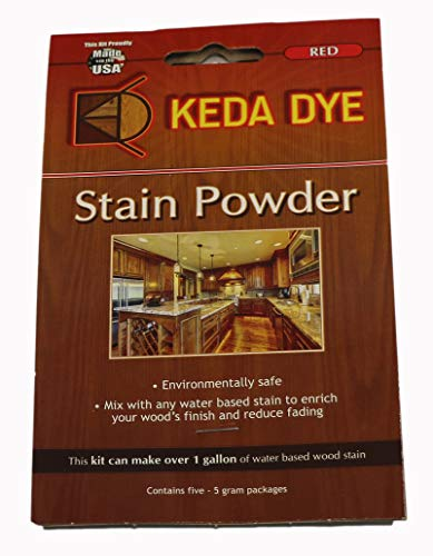 - (25) Grams of Red Wood Dye - Makes 5 Dye Stain Quarts ()