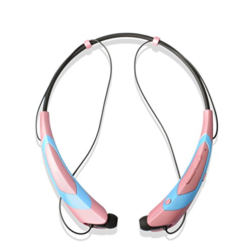 Music Stereo Headset (Wireless Bluetooth 4.1 Music Stereo Sports/Running Neckband Style Headset for Cellphone (Rose Gold))