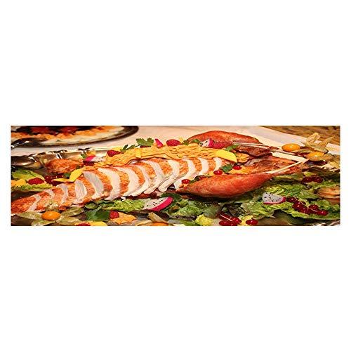 Leighhome 3D Aquarium Background A Delicious Salad Buffet Fish Tank Wall Decorations Sticker L29.5 x H19.6