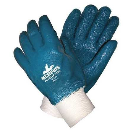 Chemical Resistant Gloves, L, Blue/White, 12 pk.