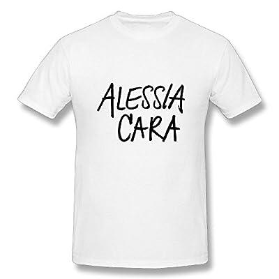 TisEEaZs Men's Alessia Cara T Shirt - Vintage T-Shirts White