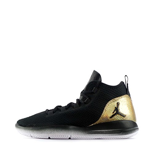 Nike Jordan Reveal Q54 Bg, Zapatillas de Baloncesto para Niños Negro (Black / White-Metallic Gold)