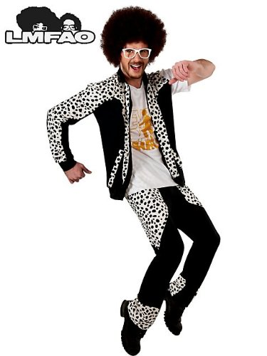 Redfoo Party Rock Anthem Costume - Standard - Chest Size - Glasses Lmfao