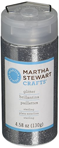Martha Stewart Crafts Fine Glitter, Sterling, 4.58 Ounces