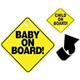 Reversible Child/Baby On Board Sign w/ Suction Cup