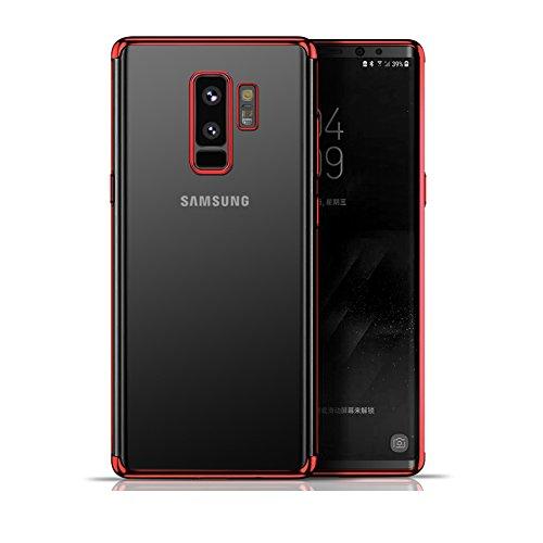 Atomzone Funda Galaxy S9 Plus, mixneer Tres Fases Chapado de TPU Carcasa Protectora Transparente Carcasa de Silicona para...