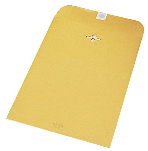 School Smart 28 lb Kraft Envelopes with Clasps and Gummed Fl