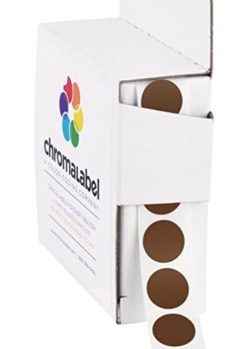 ChromaLabel 1/2 Inch Round Color Coding Labels | 1,000/Box (Cocoa)